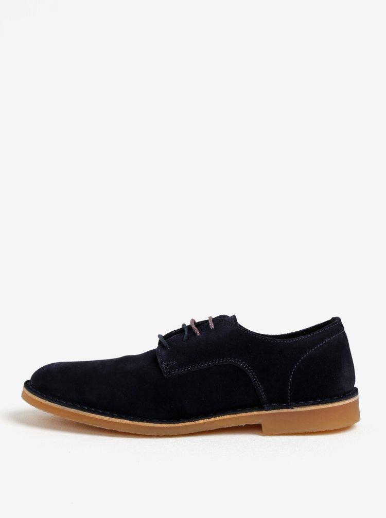 Pantofi din piele intoarsa bleumarin - Selected Homme Royce