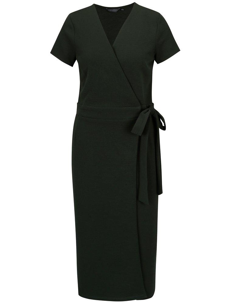 Zelené zavinovací šaty Dorothy Perkins Tall
