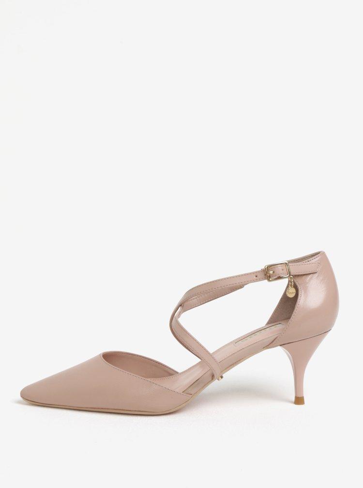 Světle růžové kožené sandálky Dune London Courtnee