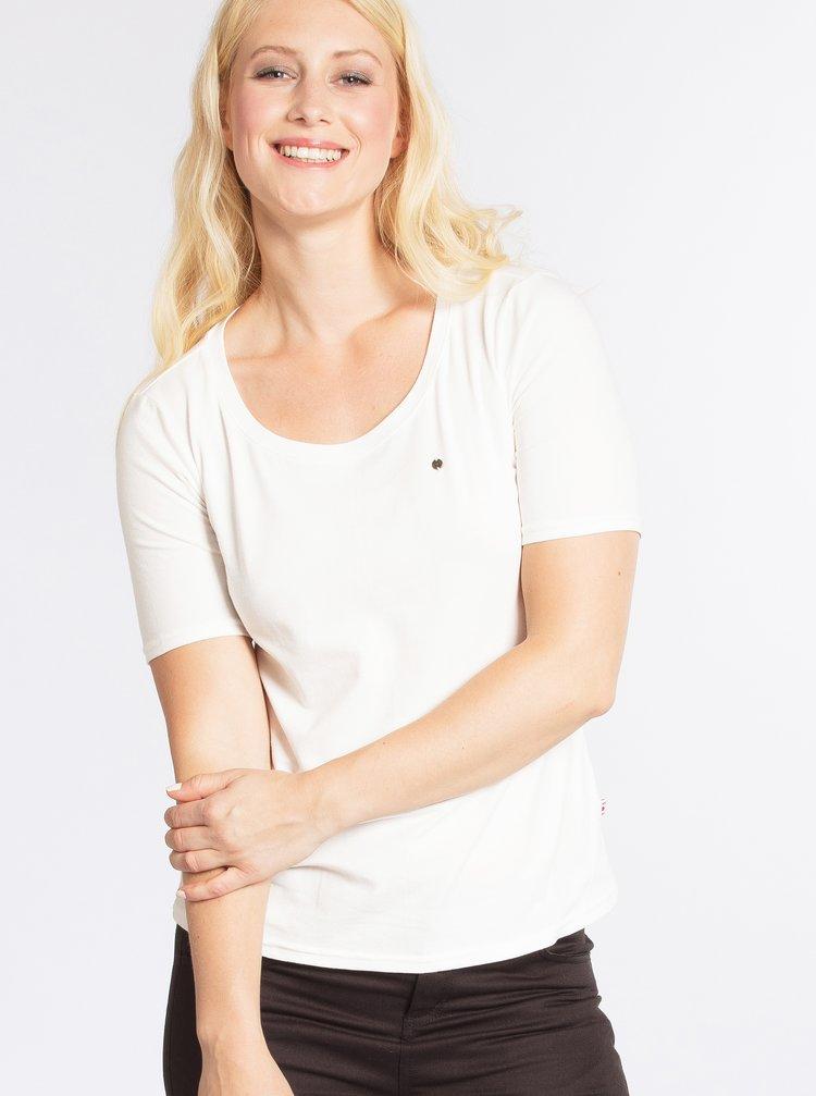 Krémové basic tričko s krátkým rukávem Blutsgeschwister