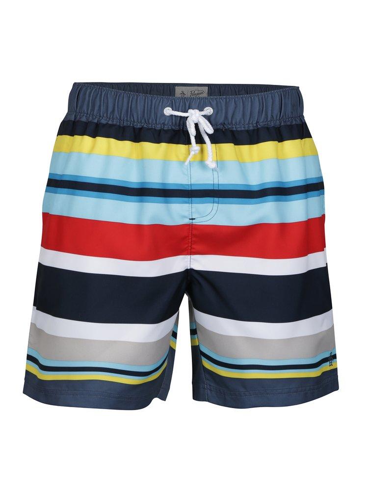 Modré pruhované plavky Original Penguin Large Stripe