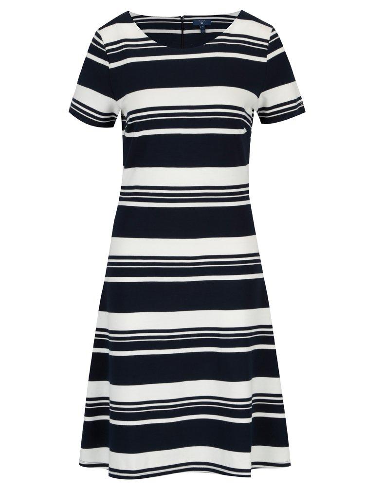 Modro-biele pruhované šaty s krátkym rukávom GANT