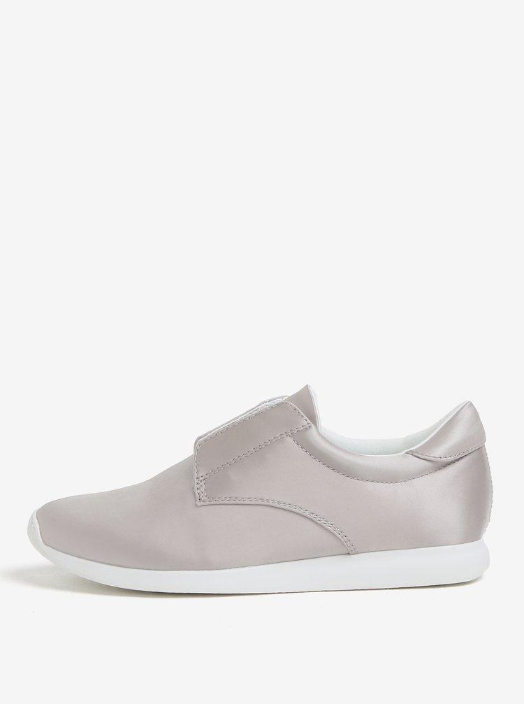 Pantofi sport gri cu aspect lucios pentru femei Vagabond Kasai
