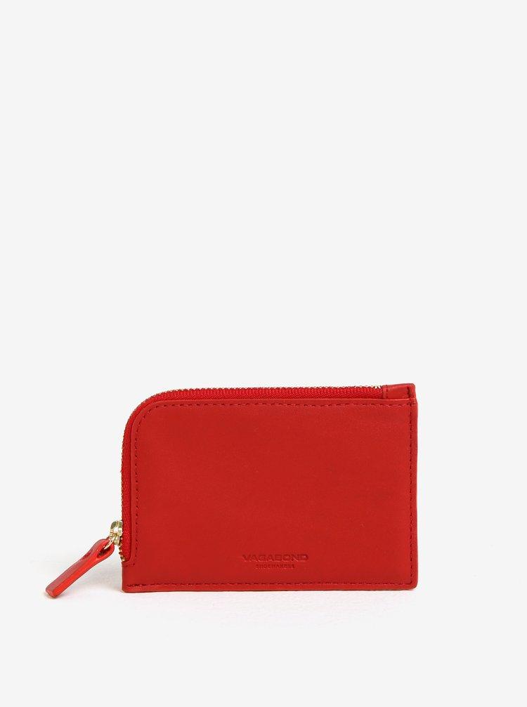 Červená dámská kožená peněženka Vagabond Lisabon