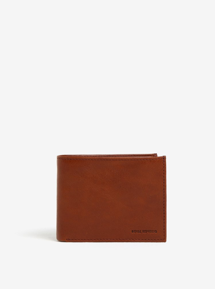 Svetlohnedá pánska kožená peňaženka Royal RepubliQ Alliance
