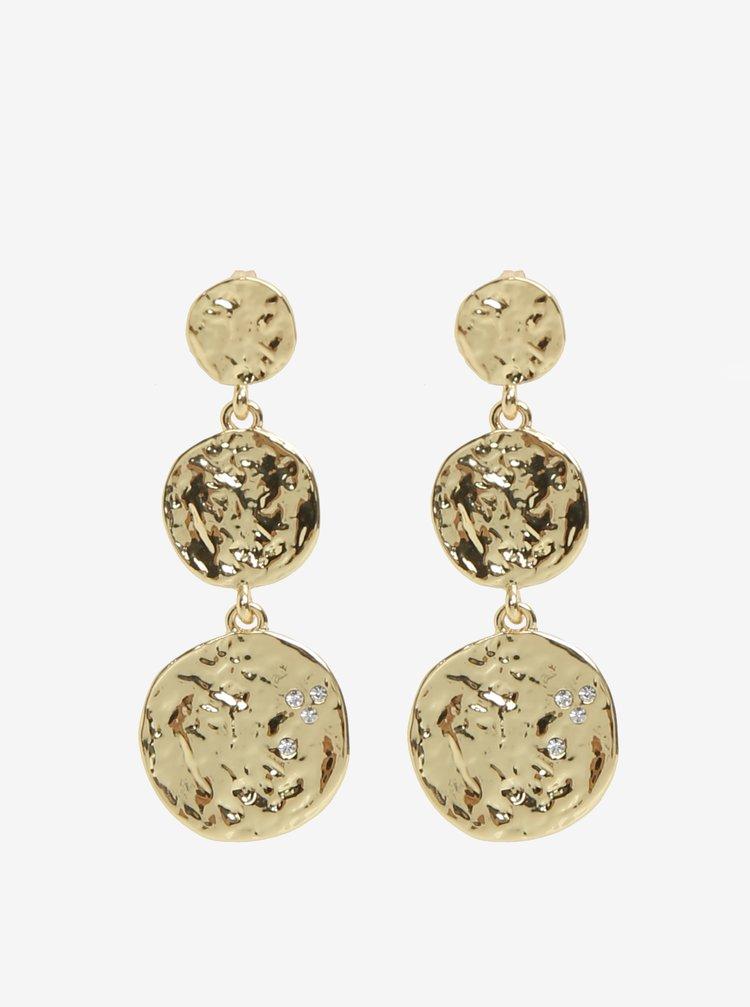 Okrúhle náušnice s peniažkami v zlatej farbe Pieces Maya