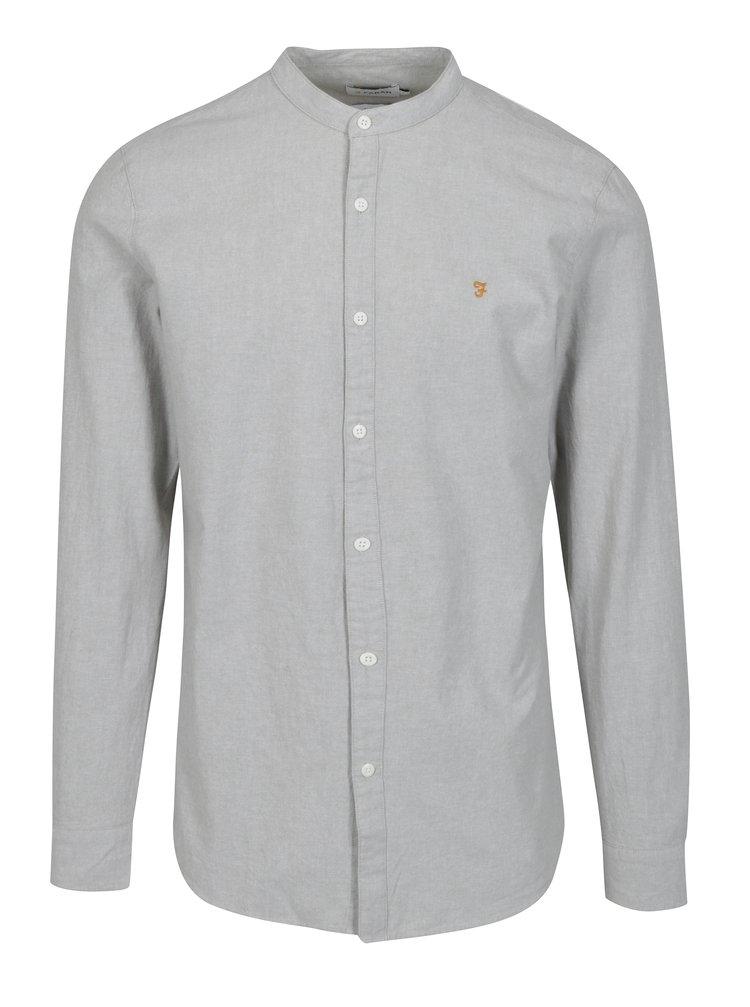 Světle šedá neformální košile Farah Chramer