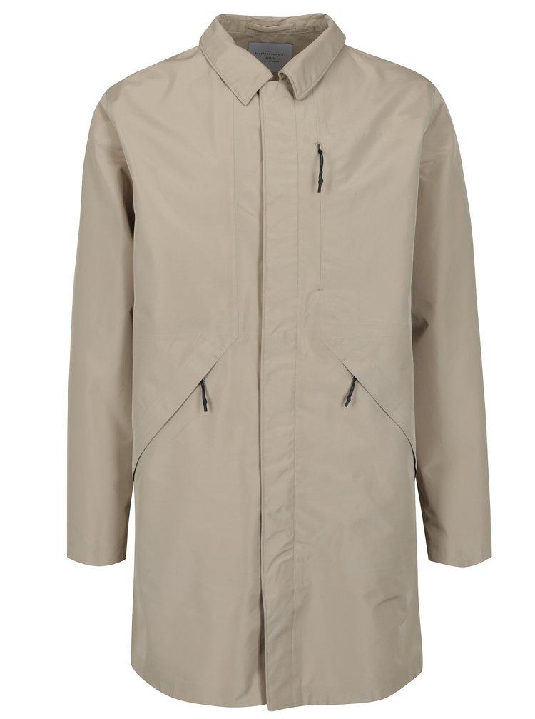 Béžový funkční nepromokavý kabát Selected Homme Take Tech