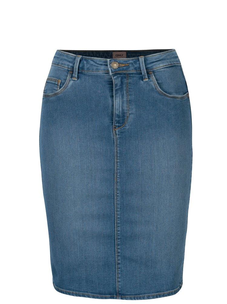 Modrá rifľová skinny fit sukňa ONLY Rain