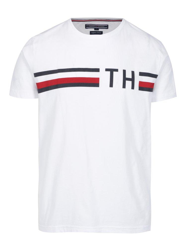 0b21e44cde Biele pánske tričko s potlačou Tommy Hilfiger