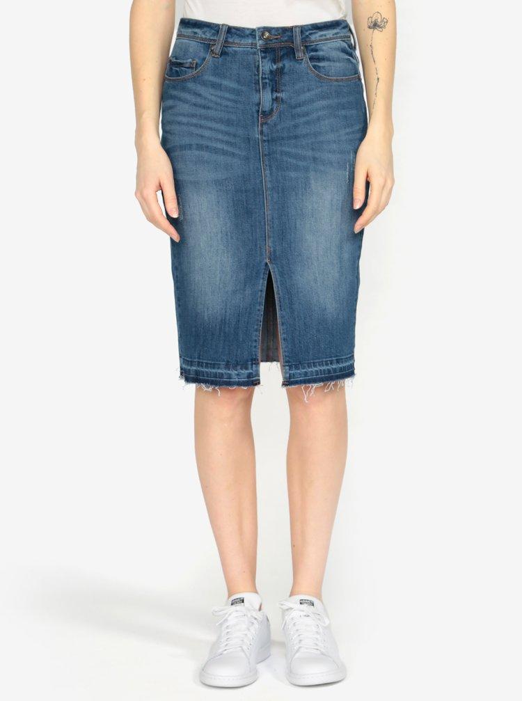 Modrá džínová sukně VERO MODA Jasmin
