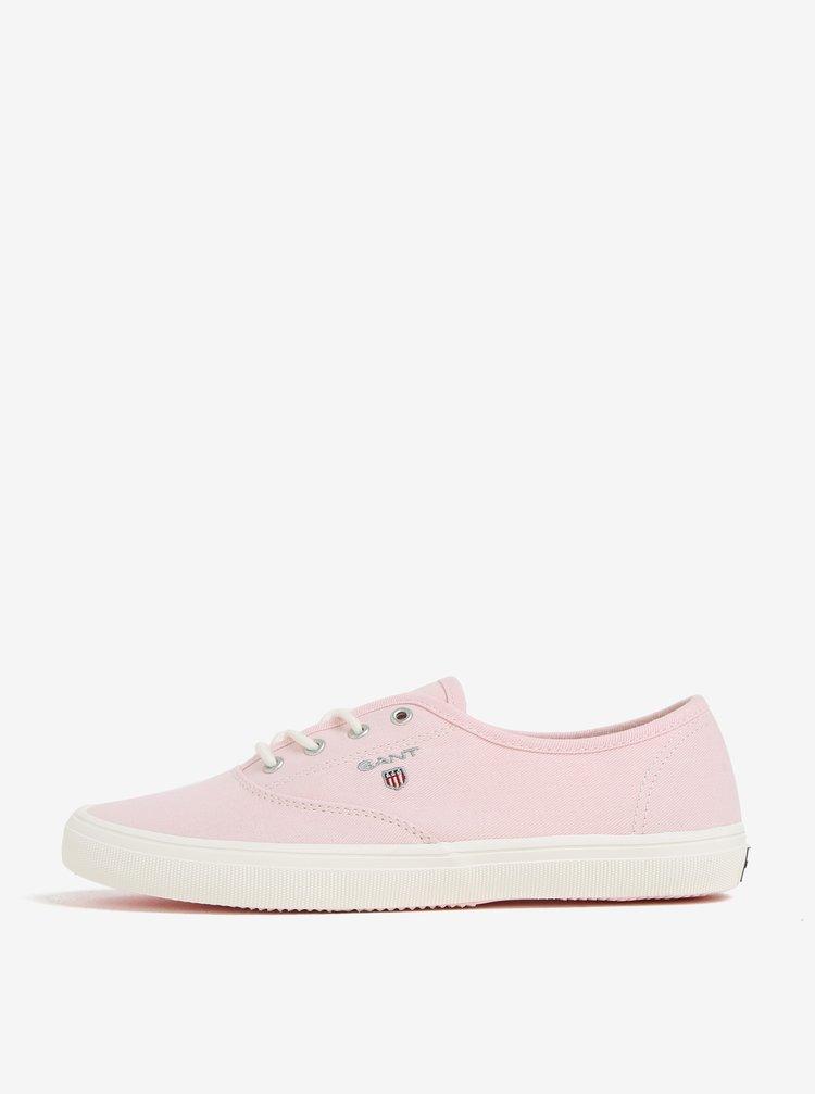 Světle růžové dámské plátěné tenisky GANT New Haven