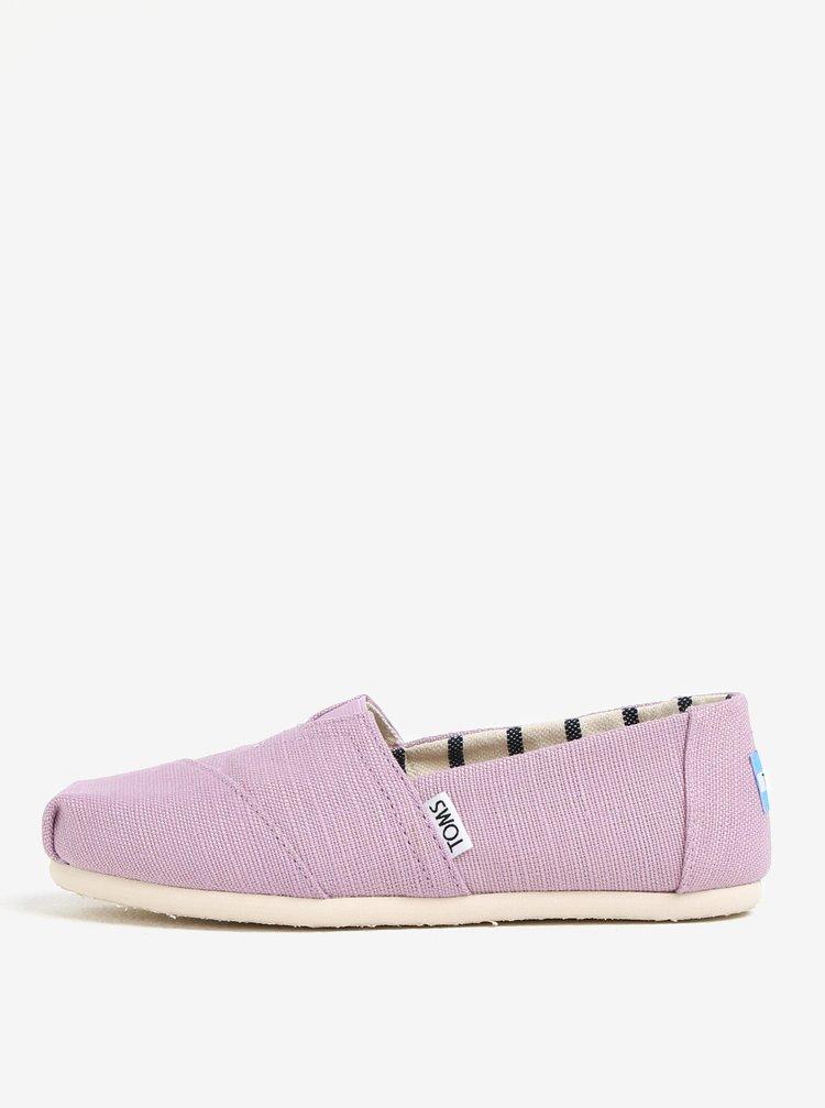 Pantofi slip on mov de dama TOMS