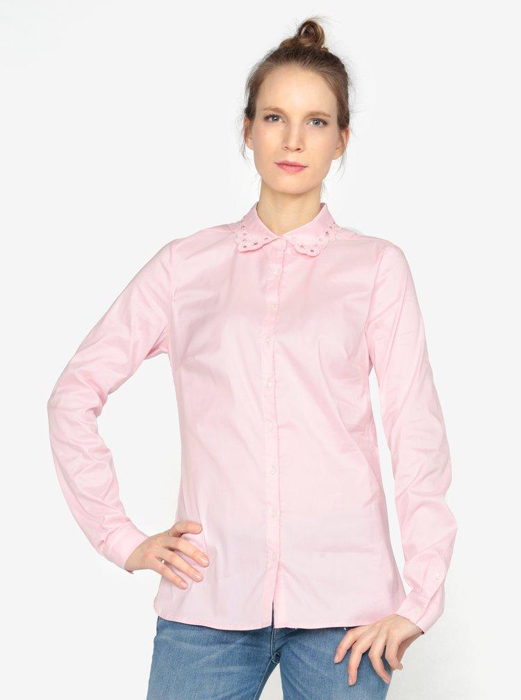 1da24abc0dad Svetloružová dámska košeľa Tommy Hilfiger · Svetloružová dámska košeľa  Tommy Hilfiger