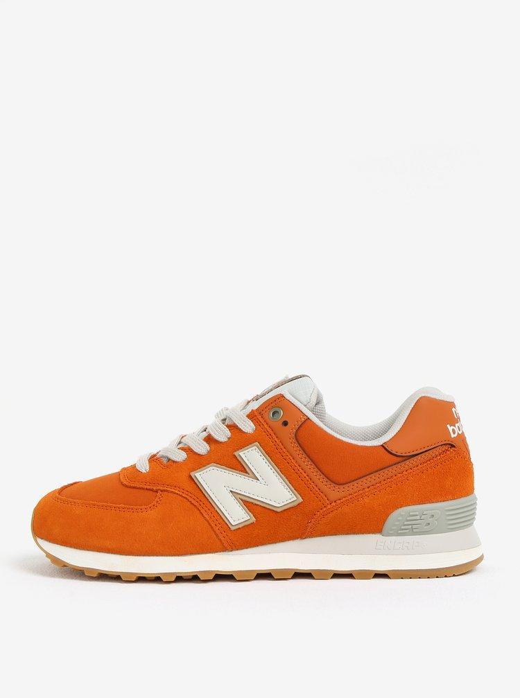 Oranžové pánské semišové tenisky New Balance ML574