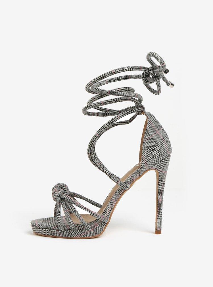 Čierno-sivé vzorované sandáliky MISSGUIDED