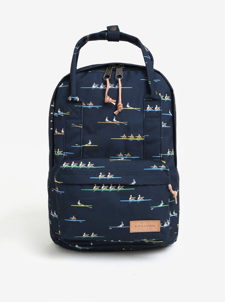 Tmavě modrý vzorovaný batoh Eastpak Break Off Padded Shop´r 15 l