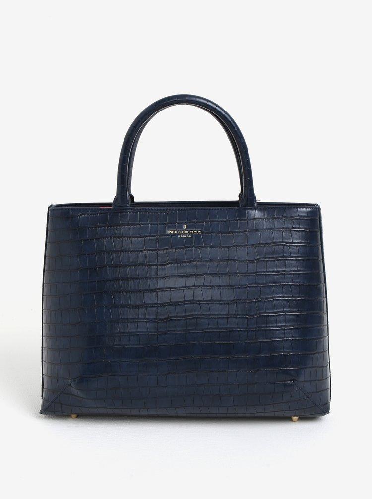 Geanta bleumarin cu model reptila Paul's Boutique Carmel