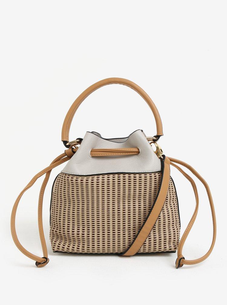Krémová vaková kabelka Bessie London
