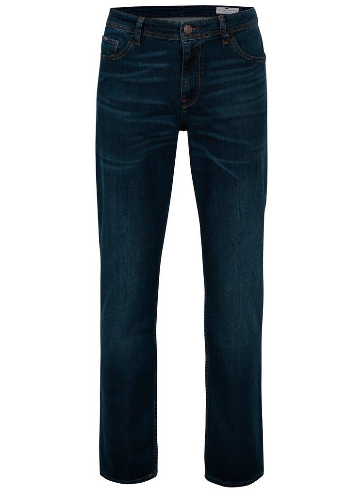 Tmavě modré pánské straight džíny Cross Jeans