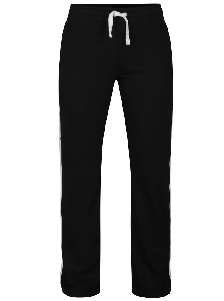 Pantaloni sport negri cu dungi si tinte pe lateral TALLY WEiJL