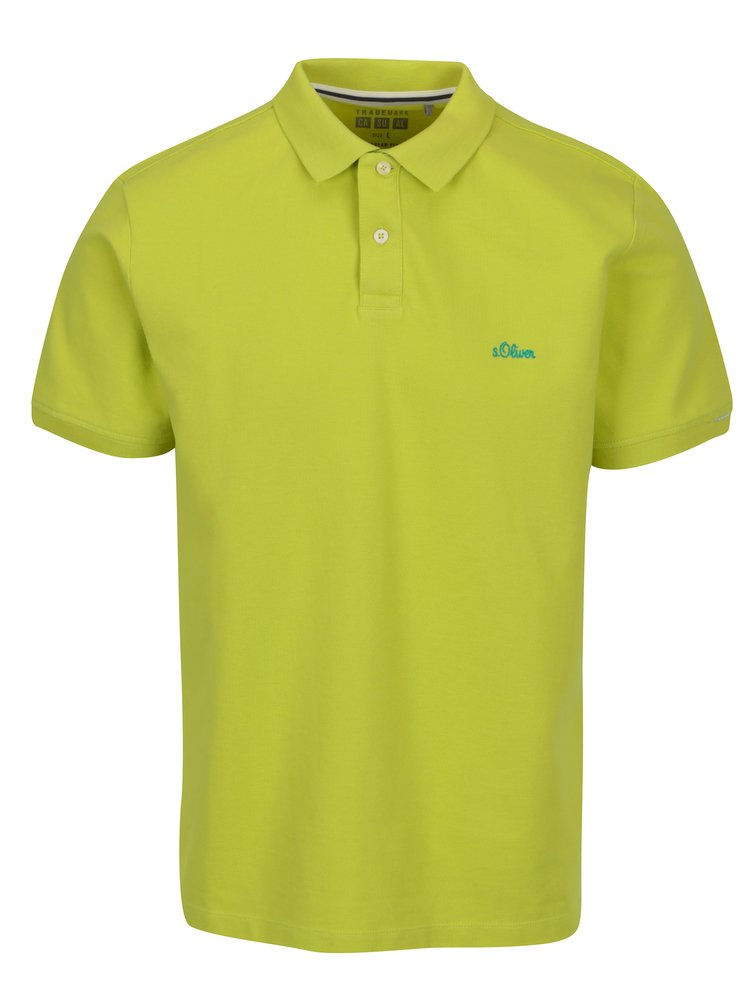 Tricou polo verde lime regular fit pentru barbati s.Oliver
