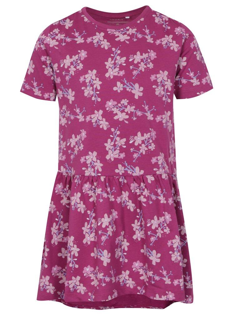 Růžové holčičí vzorované šaty name it Vita