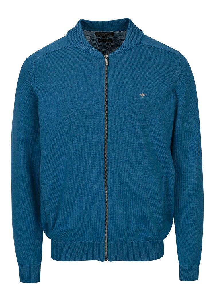 Modrý kardigan na zip Fynch-Hatton