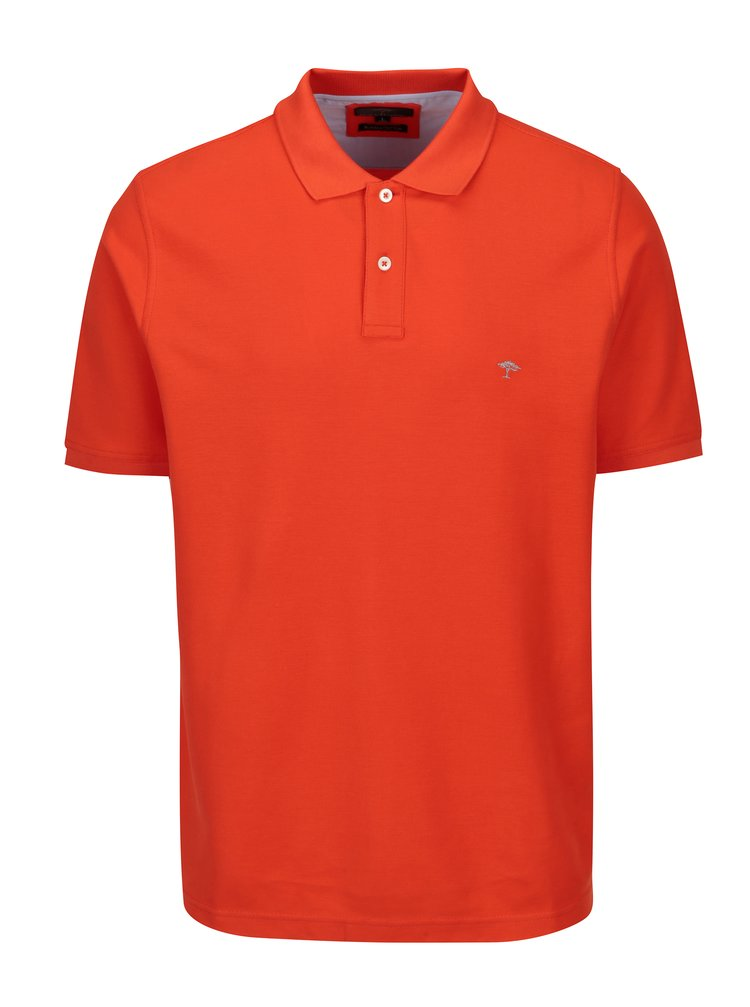 Tricou polo oranj cu logo brodat - Fynch-Hatton