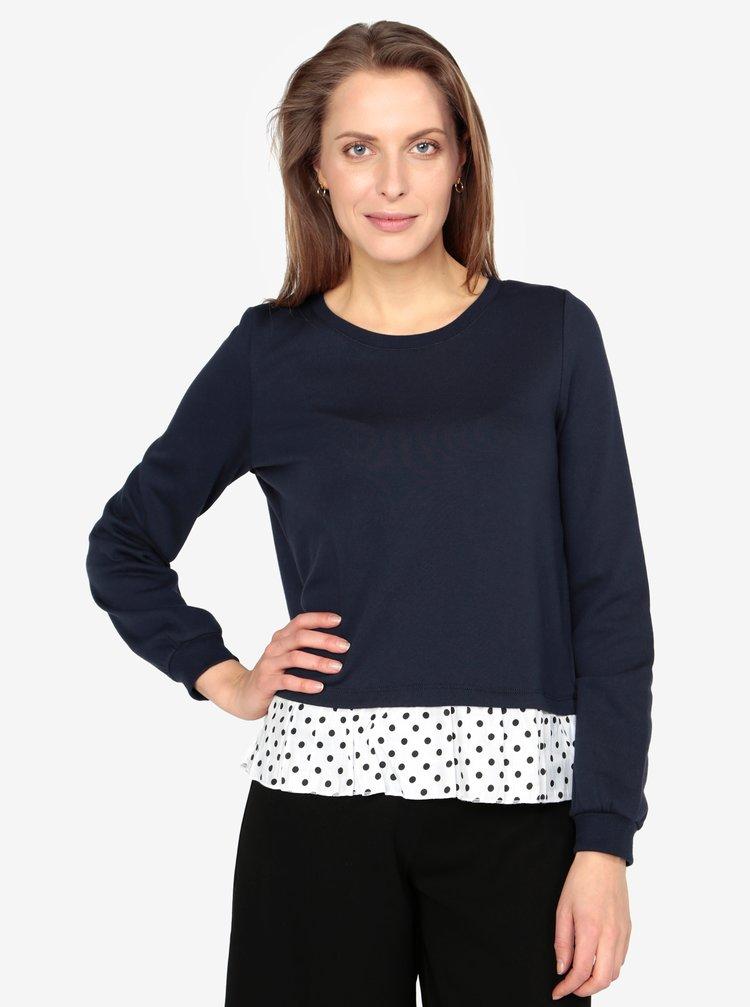 Bluza bleumarin cu terminatie contrastanta - VERO MODA Linit