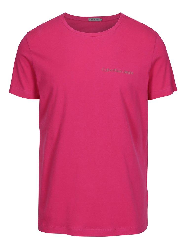 Růžové pánské triko s potiskem Calvin Klein Jeans Typoko