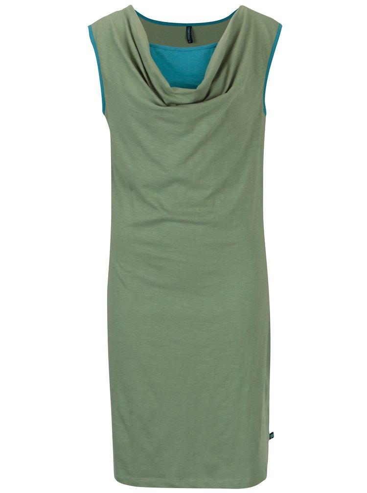 Rochie verde cu decolteu drapat Tranquillo Aurea