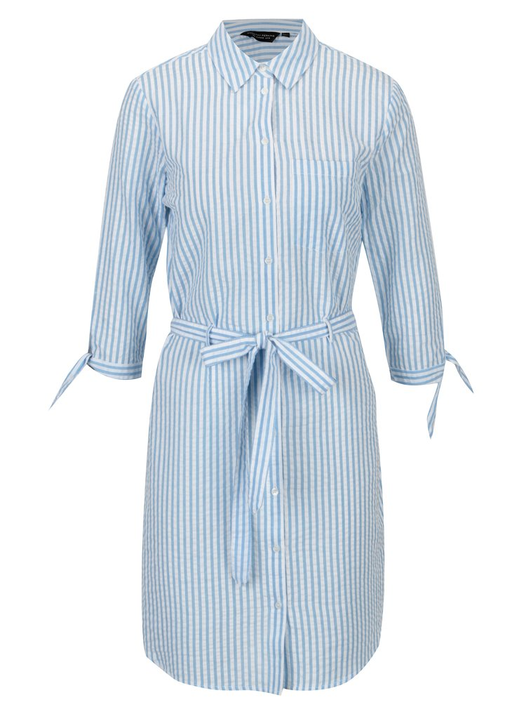 Rochie camasa cu dungi si cordon Dorothy Perkins