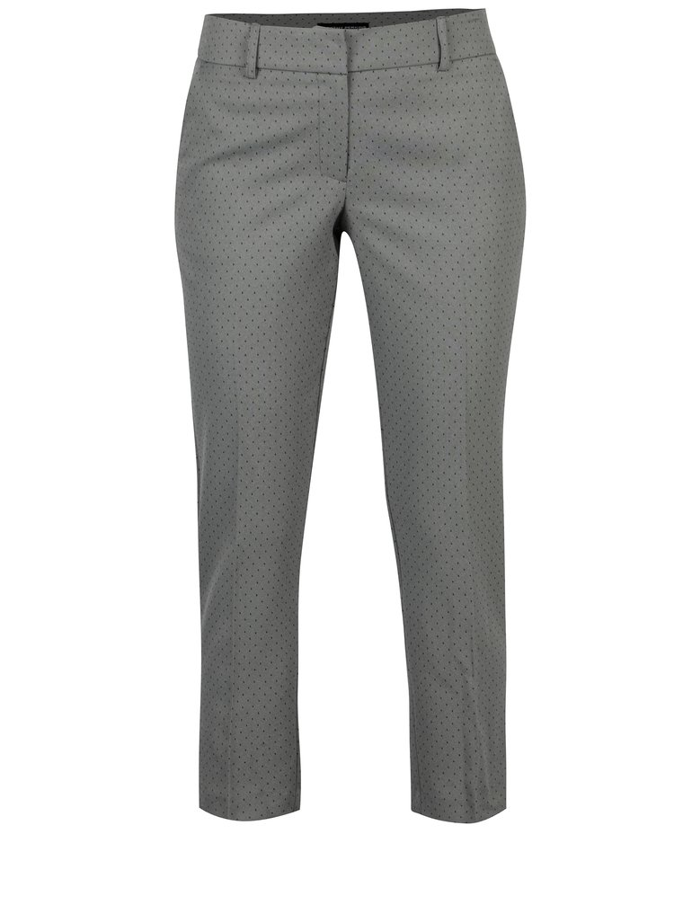 Šedé vzorované kalhoty Dorothy Perkins