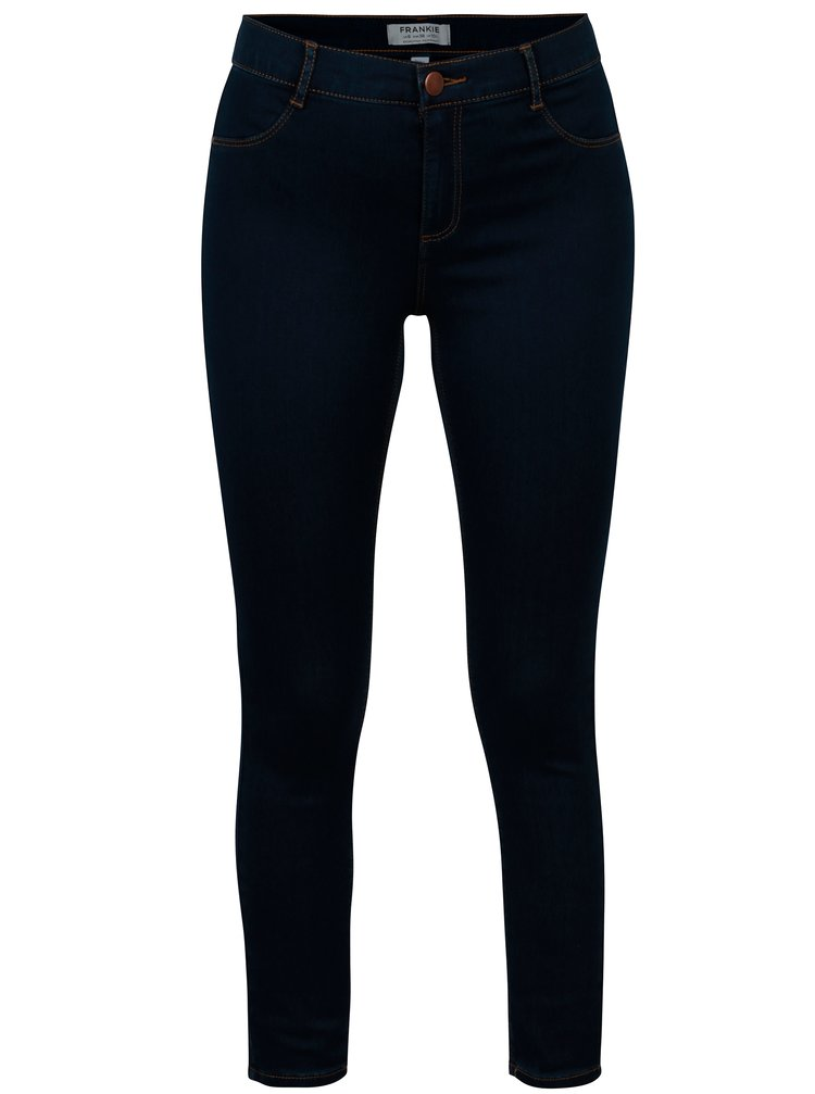 Modré zkrácené super skinny džíny Dorothy Perkins Frankie