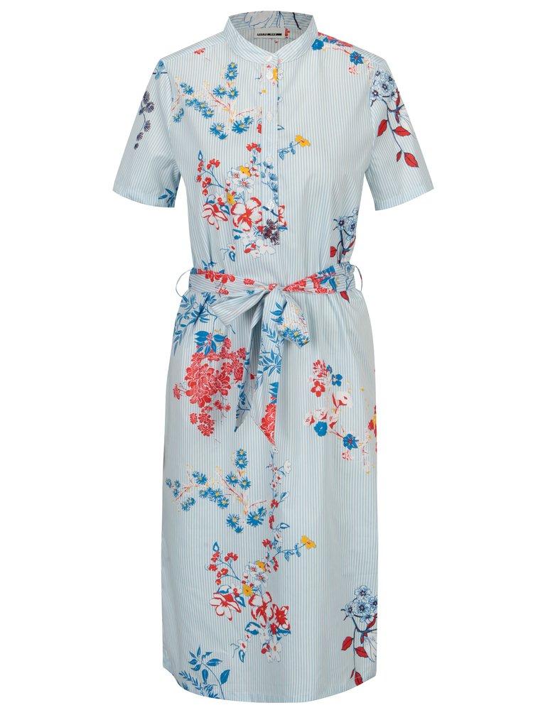 Krémovo-modré pruhované květované šaty Noisy May Conansa