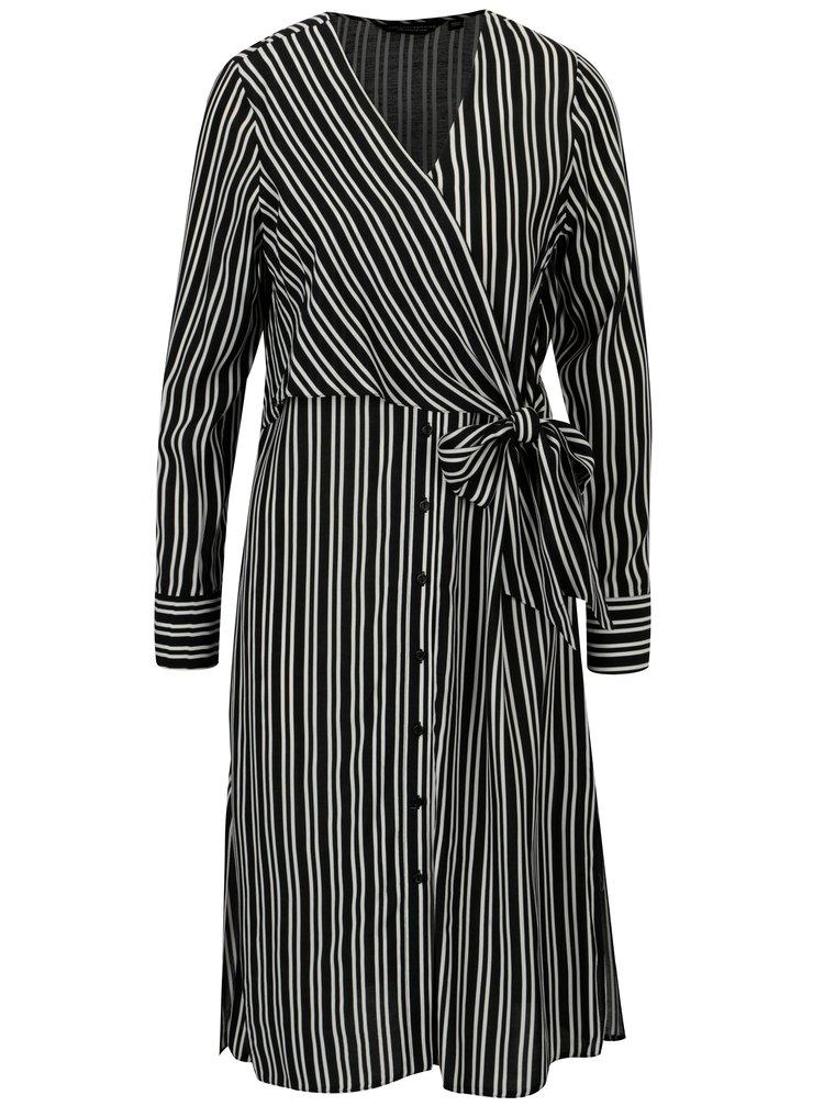 Černé pruhované šaty Dorothy Perkins