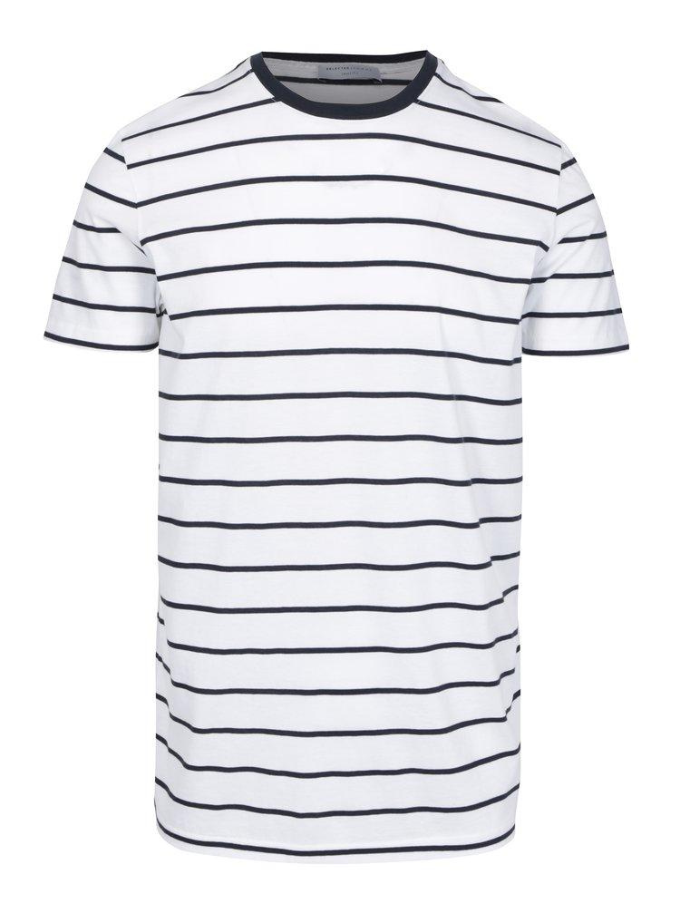Tricou alb&negru cu dungi - Selected Homme Max