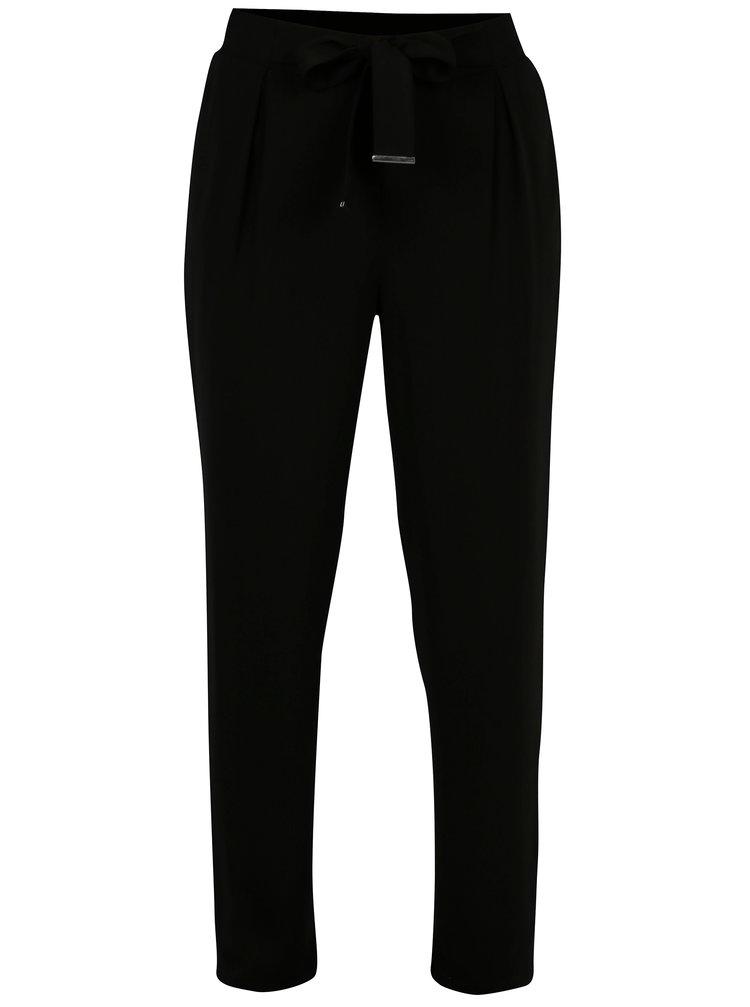 Pantaloni negri cu talie inalta si elastica - Dorothy Perkins