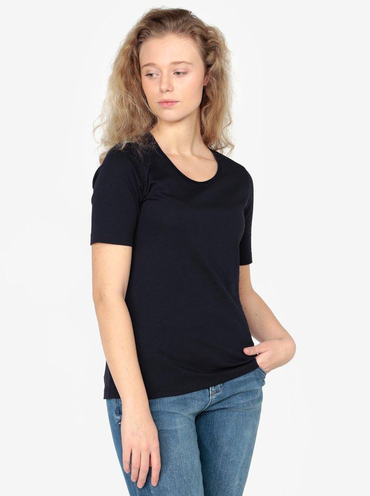 Tmavě modré dámské basic tričko s.Oliver