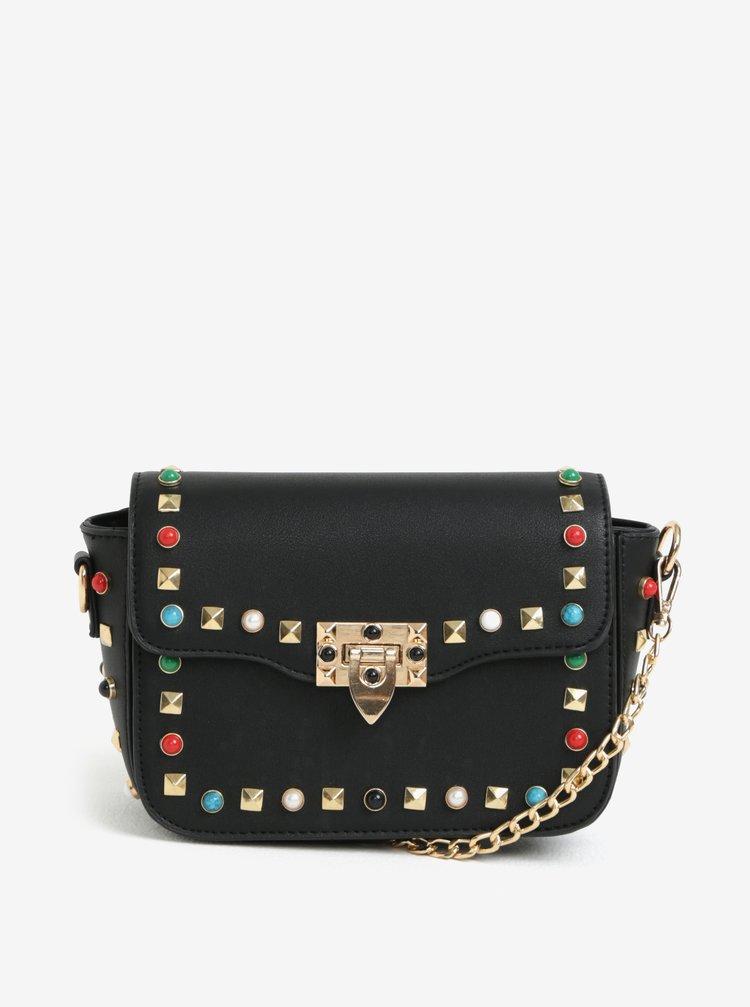 Černá crossbody kabelka s ozdobnými cvočky MISSGUIDED