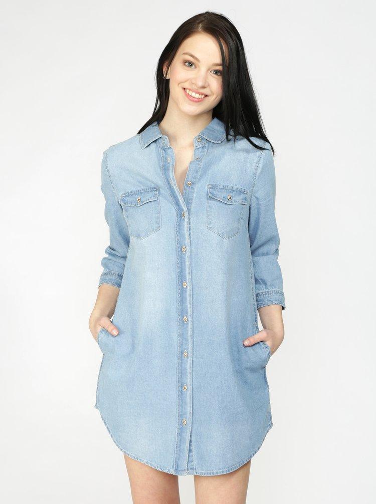 Modré košilové šaty Haily's Frieda