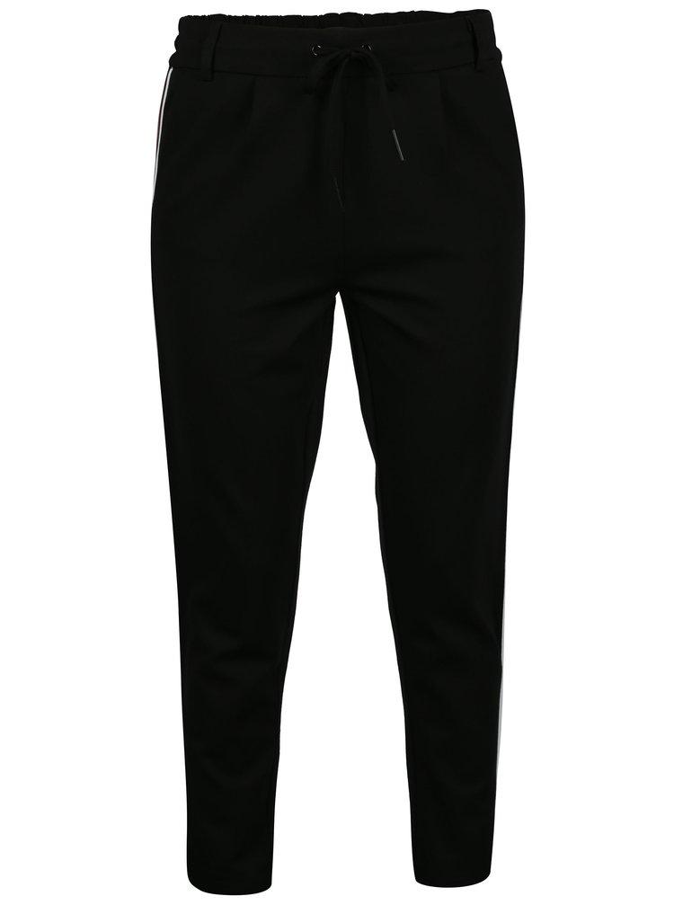 Černé kalhoty s pruhem ONLY Poptrash