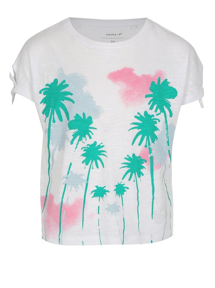 Bílé holčičí tričko s potiskem name it Veet