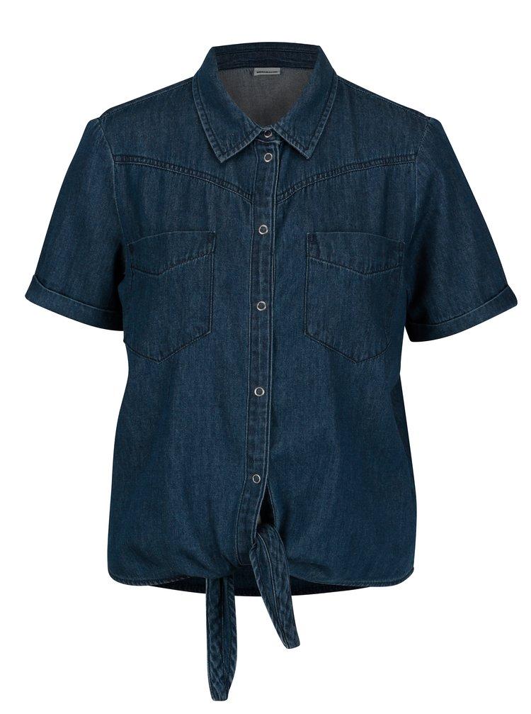 Modrá džínová košile se zavazováním na uzel Noisy May Zoey