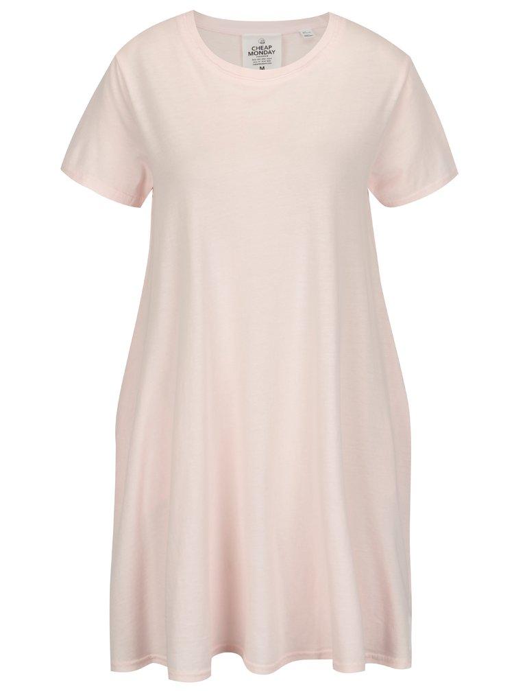 Světle růžové volné šaty Cheap Monday