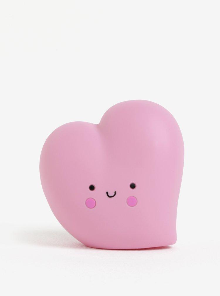 Růžová LED lampa ve tvaru srdce Disaster Heart