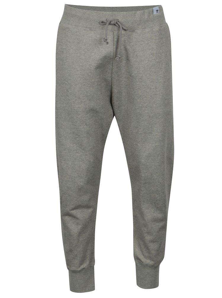 Pantaloni sport gri deschis melanj pentru barbati - adidas Originals X By
