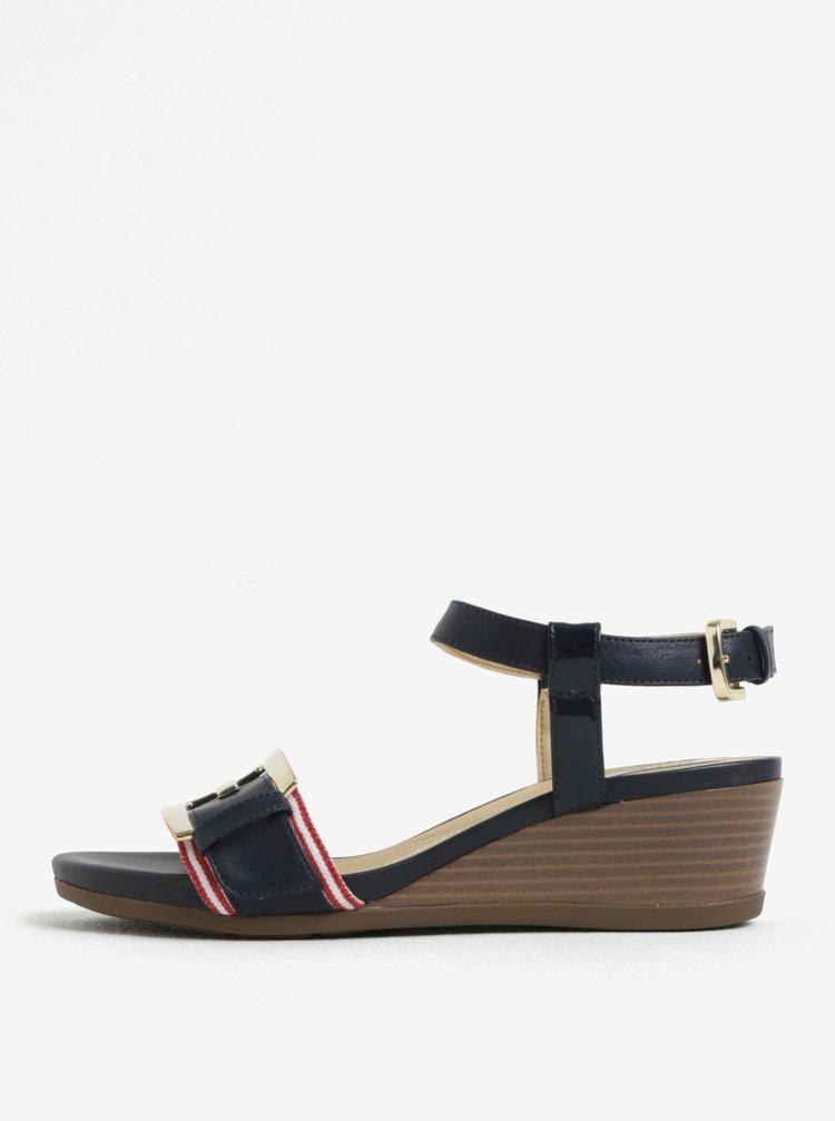 Modré sandálky na klínku Geox Mary Karmen