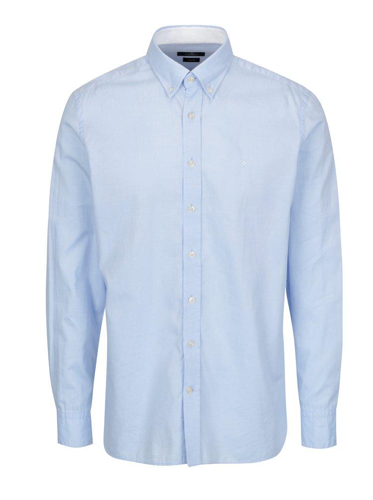 Světle modrá slim fit košile Hackett London Oxford